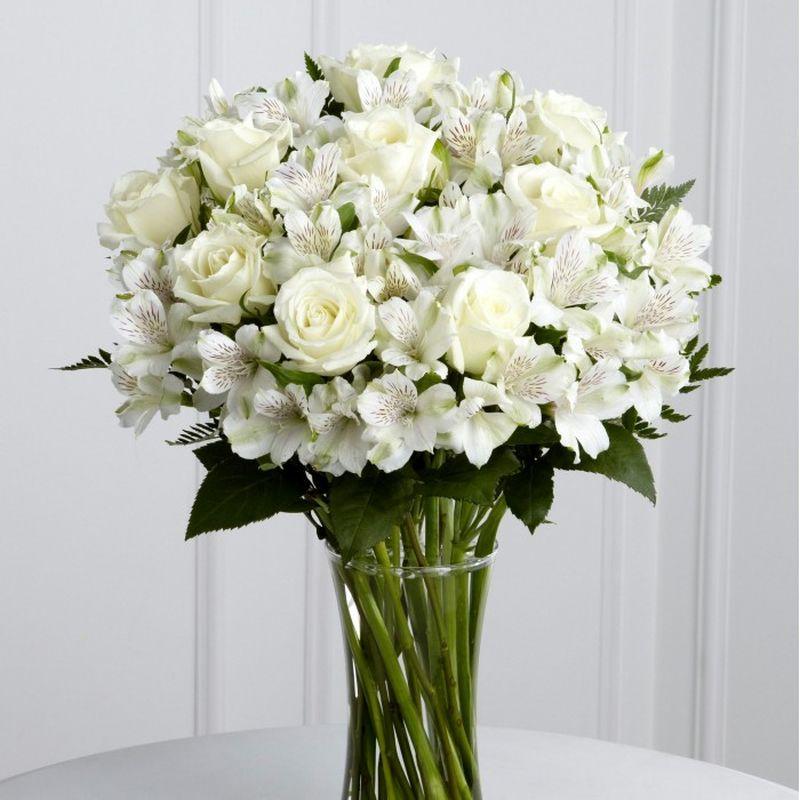 Букеты с белых цветов